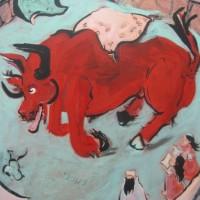 Ankunft, 2009, acrylic on canvas, 200 x 140 cm