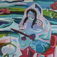 Fisherwoman 200 x 140 cm, acrylic and ink on canvas, 2012