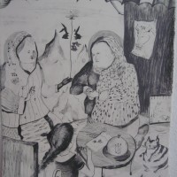the_Ritual_72_x_52cm_pencil_on_canvas_2009.jpg